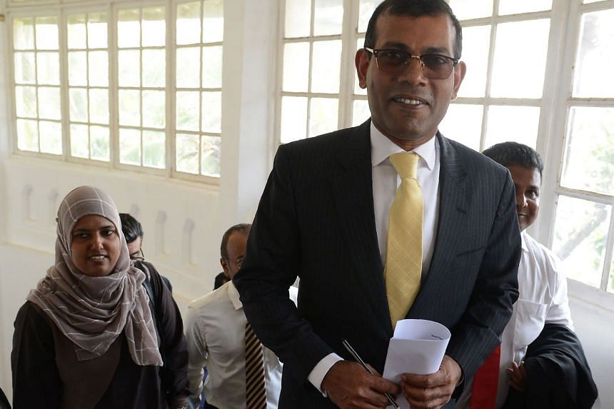 """Former Maldives president Mohamed Nasheed accused China of conducting a """"land grab"""" in the Indian Ocean archipelago."""