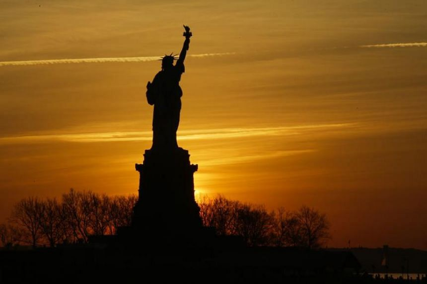 The Statue of Liberty is pictured from Liberty State Park on Jan 21, 2018 in Jersey City, New Jersey.