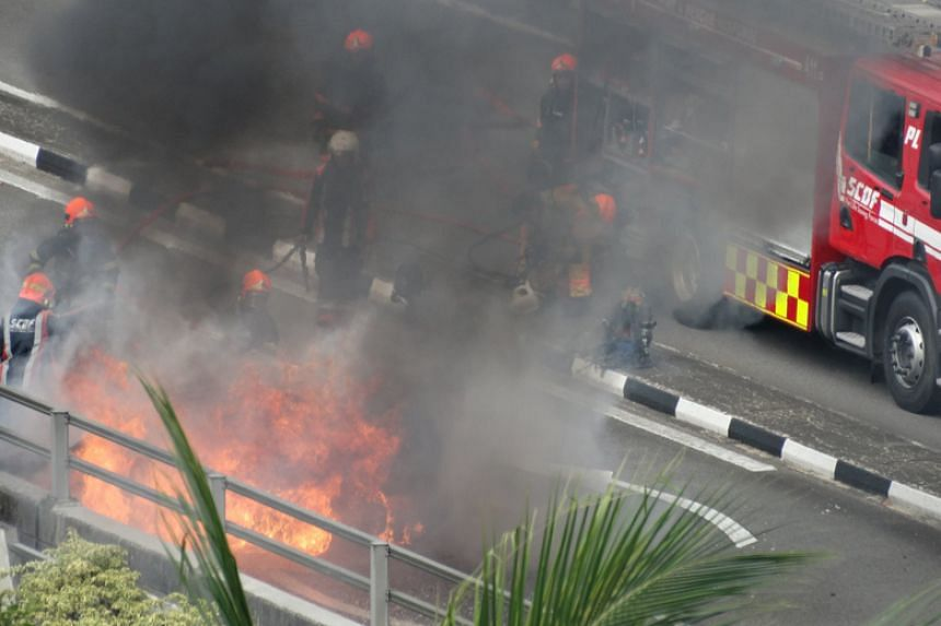 The accident occurred in Jurong Canal Drive at about 3.40pm on Jan 22.