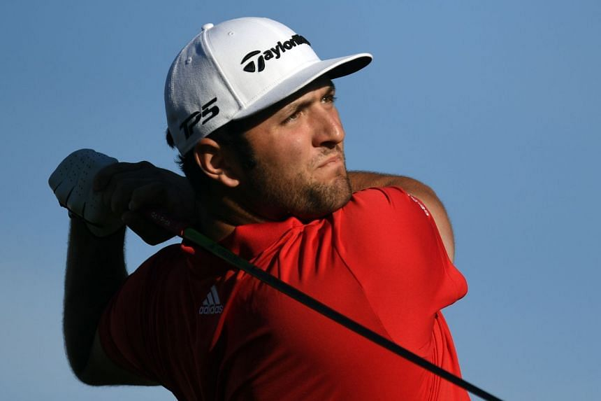 Spain's Jon Rahm tees off on the 16th during the final round of the CareerBuilder Challenge golf tournament at PGA West TPC Stadium Course, on Jan 21, 2018.