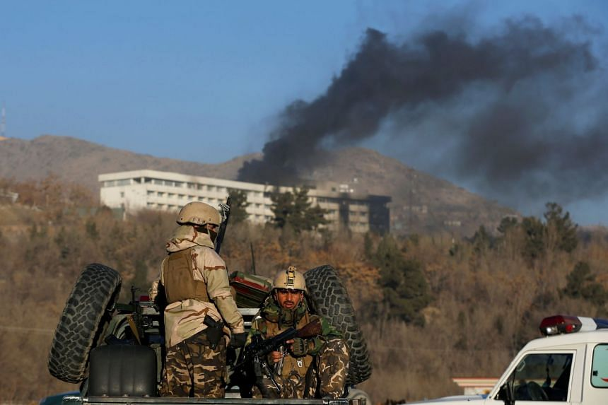 Gunmen stormed Kabul's Intercontinental Hotel on Jan 20, where an information technology conference was to be held on Jan 21.