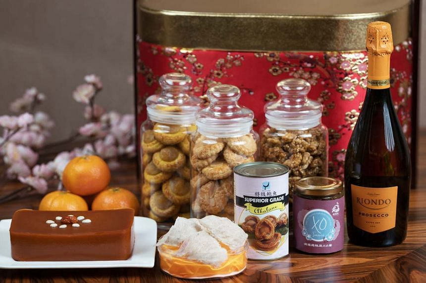 Offer your well wishes along with the Prosperity Gift Hamper (available from Jan 5 to March 2) packed with a delectable mix of savoury and sweet treats. PHOTO: INTERCONTINENTAL HOTEL