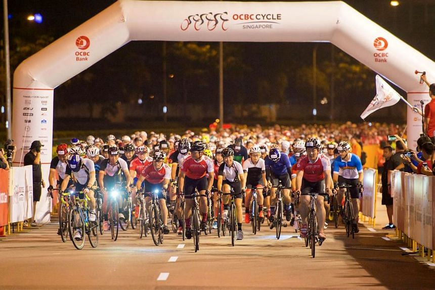 Participants of the OCBC Cycle 2017 at the start point after the flag off. The 2018 edition of the event will take place on May 5-6.