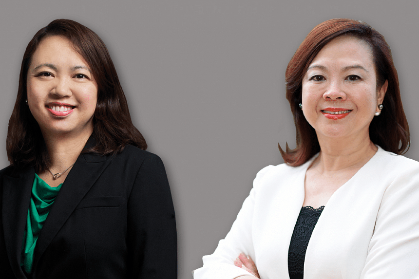 Women make up about 70% of CDL's workforce and 40% of its department heads. Ms Yiong Yim Ming (left), chief financial officer, and Ms Esther An (right), chief sustainability officer,  are part of CDL's senior management.