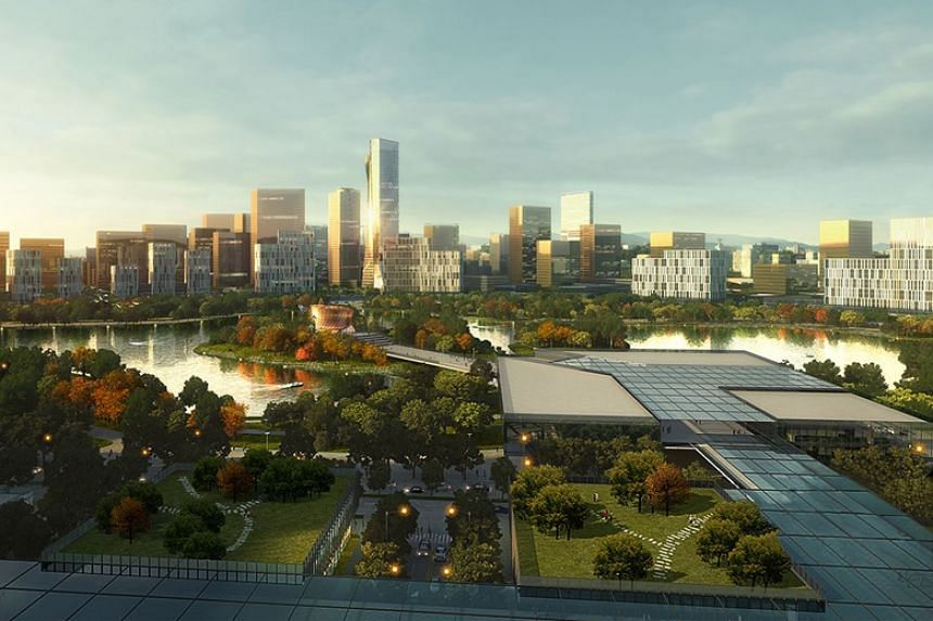 "An artist's impression of New Clark City. The Philippines' second government centre, which is a component of New Clark City, will serve as ""an integrated disaster risk recovery centre""."