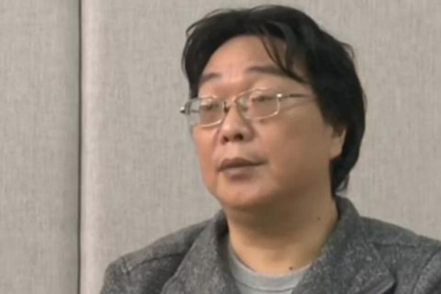 Gui Minhai, a Swedish national and co-owner of publisher Mighty Current in Hong Kong, in an interview broadcast on Jan 17, 2016.