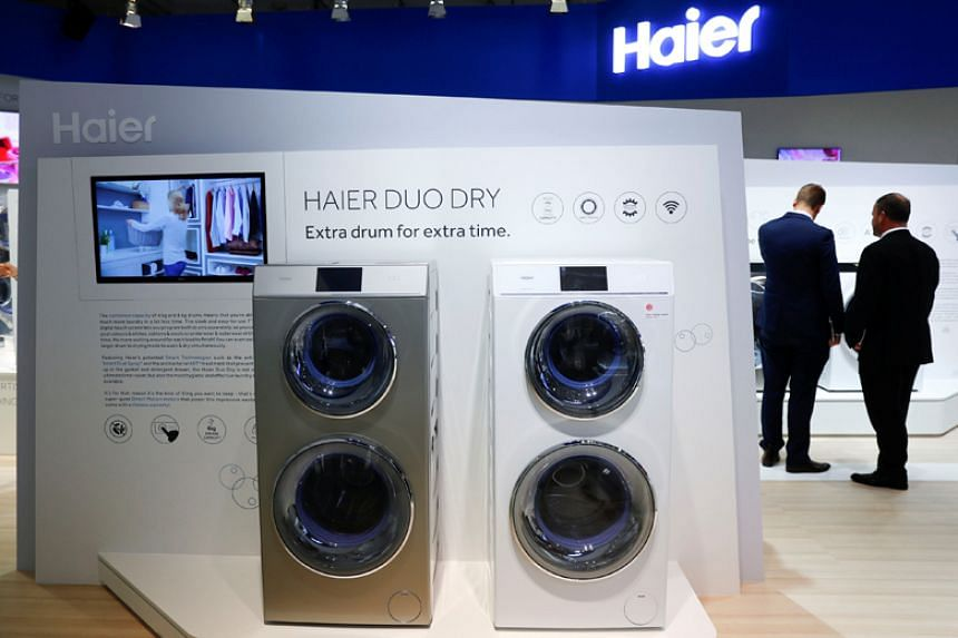 China's Haier finds itself in a favourable spot following the US decision to slap duties on solar panels and washing machines, mainly thanks to its US$5.6 billion (S$7.4 billion) purchase of the home appliance business of General Electric Co. in 2016