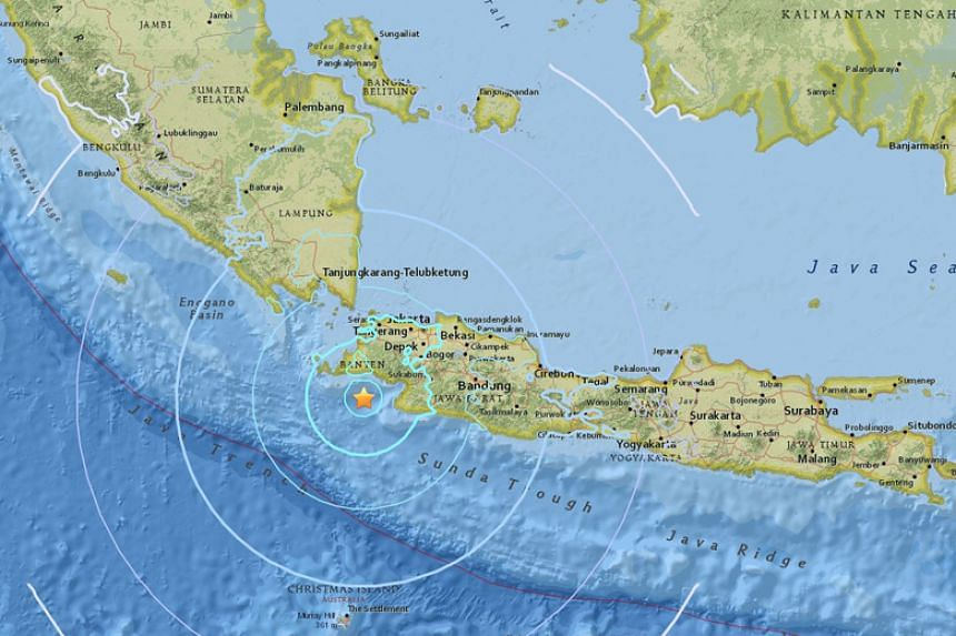An earthquake of magnitude 6.1 struck off Java in Indonesia on Jan 23.