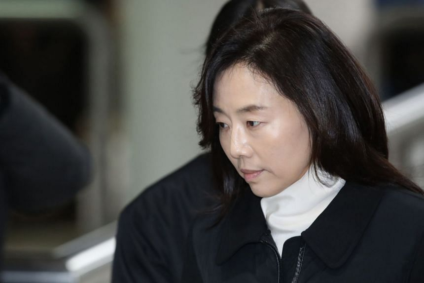 Former Culture Minister Cho Yoon Sun, a close aide of ousted president Park Geun Hye, arrives at Seoul High Court to attend a hearing of her appeals trial on the so-called blacklist case, in Seoul, on Jan 23, 2018.