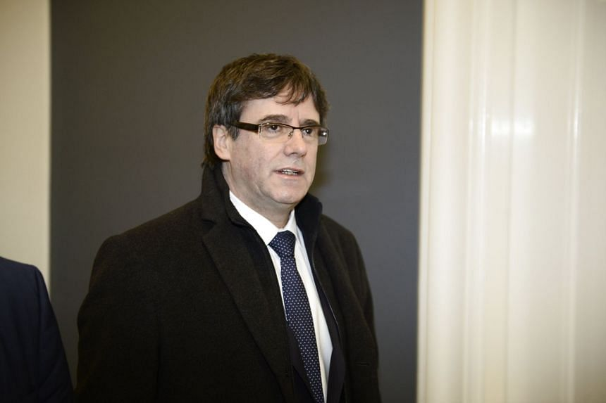Former Catalan president Carles Puigdemont arriving at a meeting with Danish members of Parliament at Christiansborg in Copenhagen, Denmark, on Jan 23, 2018.