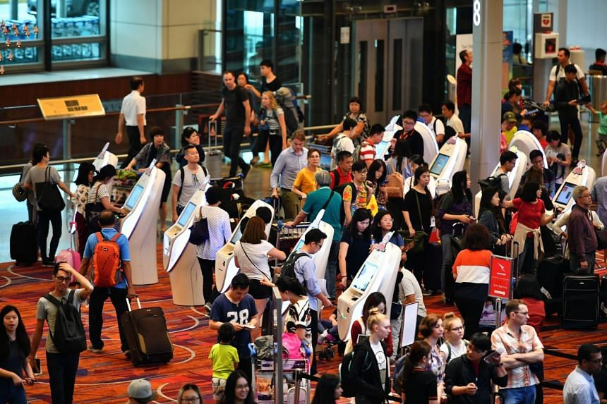 Changi Airport's total passenger traffic grew by 6 per cent year on year to 62.2 million between January and December 2017.