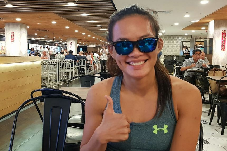 Tiffany Teo wore sunglasses throughout her 20-minute interview with The Straits Times at the Junction 8 foodcourt, as there was still some bruising around her eyes, which were also sensitive to light.