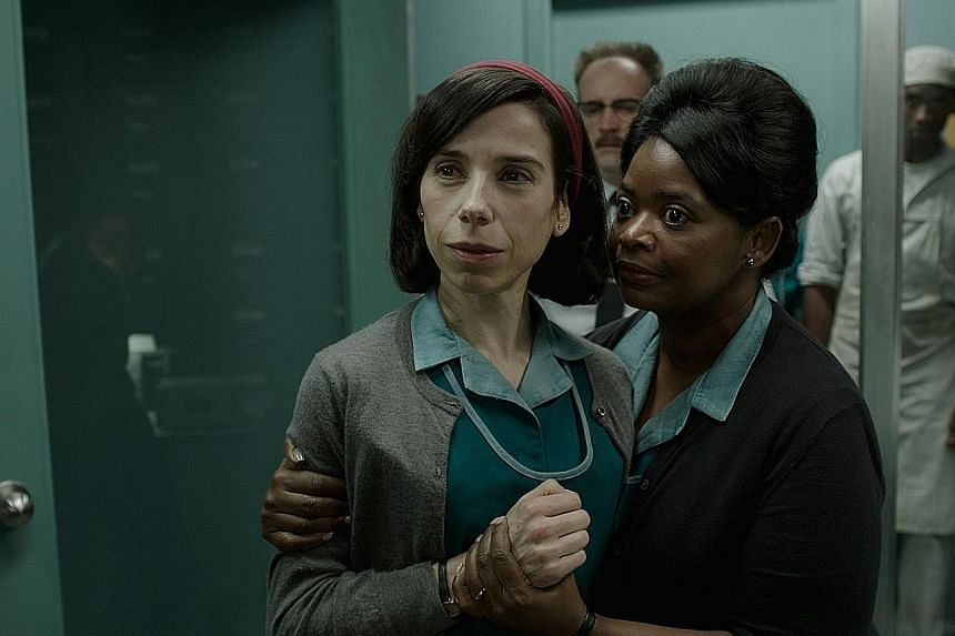 Left: Fantasy drama The Shape Of Water earned nominations in all major categories, including for its actresses Sally Hawkins (left) and Octavia Spencer. Right: World War II drama Dunkirk received eight nods, including for director Christopher Nolan.