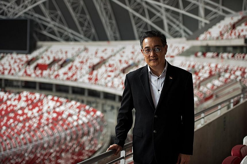"""New CEO Oon Jin Teik says the goal of the Sports Hub """"is to give everybody in the heartland something new to experience... through a diverse portfolio of programming""""."""