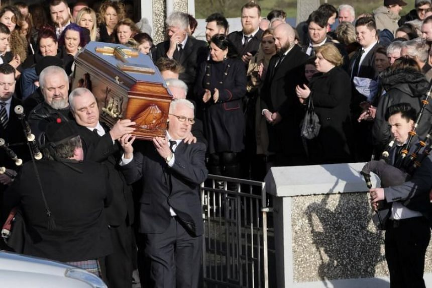 Around 200 people, largely members of Dolores O'Riordan's family and close friends, gathered at Saint Ailbe's church near Limerick to bid farewell to the late Cranberries singer.