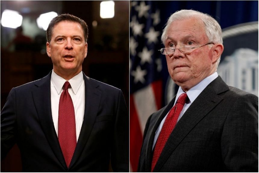 US Attorney General Jeff Sessions (right) was questioned for several hours last week as part of the special counsel investigation, and former FBI Director James Comey was interviewed by the office last year.