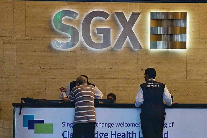 On the Singapore bourse, about 113.6 million shares worth S$205.5 million in total changed hands.
