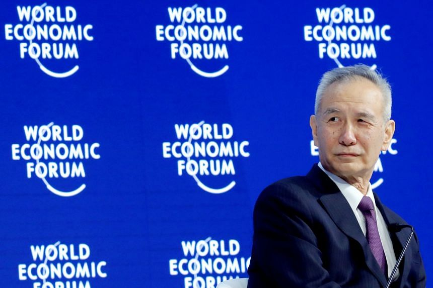 Communist Party of China Central Committee member Liu He at the World Economic Forum meeting in Davos, Switzerland, on Jan 24, 2018.