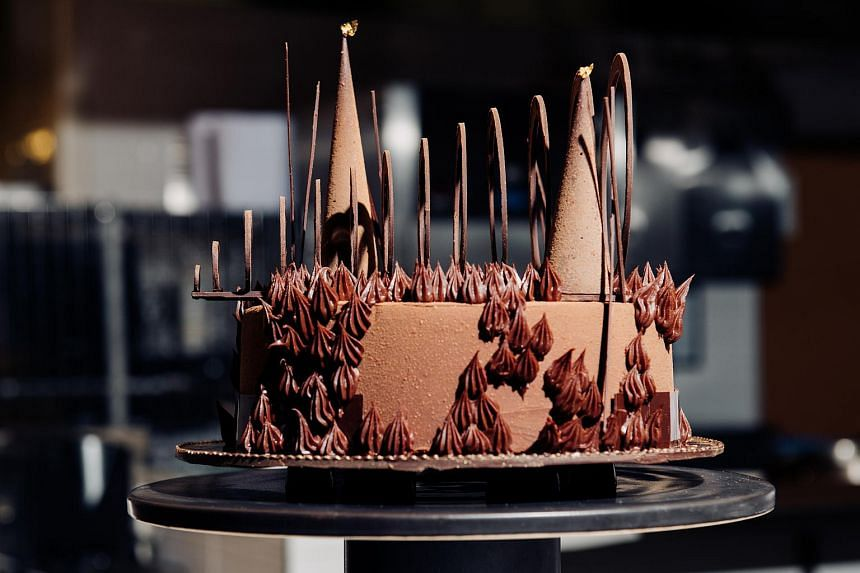 A chocolate cake by chef Jansen Chan, director of pastry at the International Culinary Center in New York and the Bay Area.