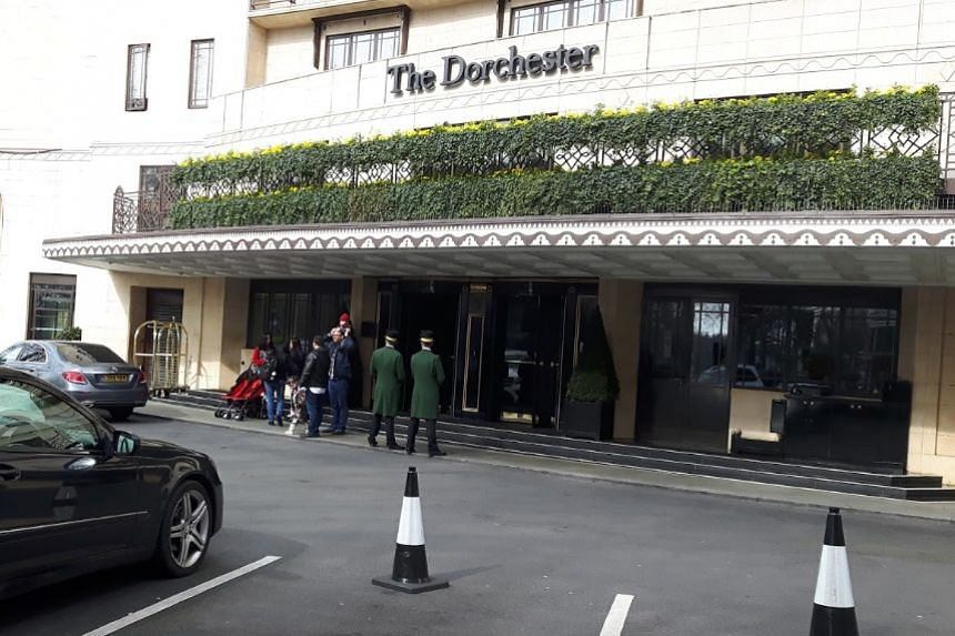 The event held last week at the Dorchester Hotel on Park Lane in London was attended by about 360 men from business, finance and politics.
