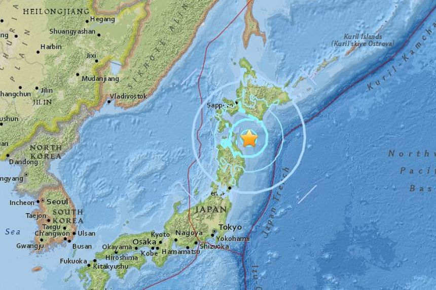 An earthquake of magnitude 6.4 struck off Japan on Jan 24.