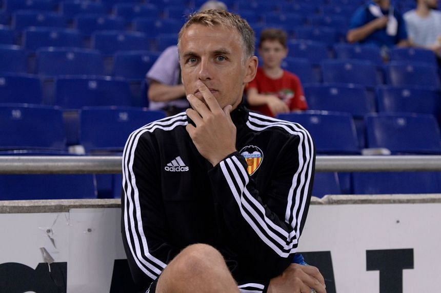 Former Manchester United defender Phil Neville also played for England and Everton and was previously first-team coach at Manchester United and assistant coach at Spanish club Valencia.