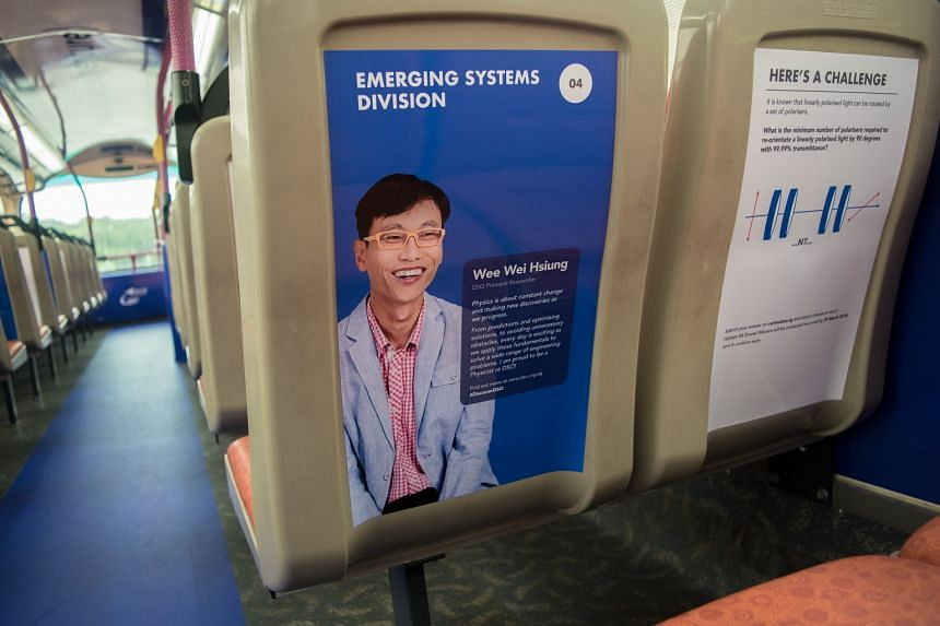 One of 14 #ChallengeInTransit questions found on the upper deck of bus service 96, which loops around Clementi and the National University of Singapore.