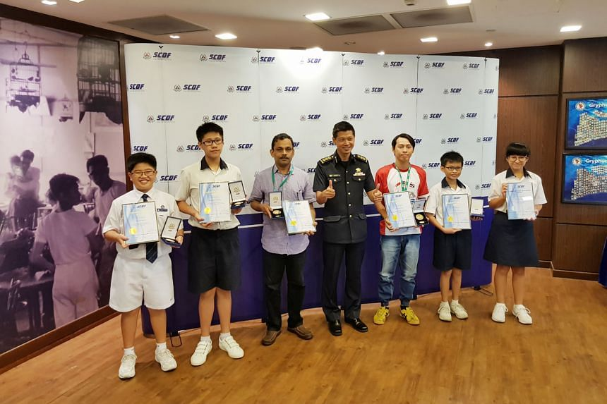 Six good Samaritans were recognised yesterday for helping a nine-year-old boy who was trapped under a car in an accident on Jan 17. The two men and four Secondary 1 students had rushed to the accident scene in Geylang East Avenue 1 to help the boy. O