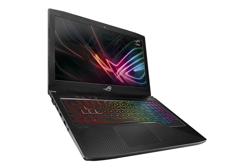 The Asus ROG Strix Scar edition gaming laptop is optimised for games such as Overwatch.