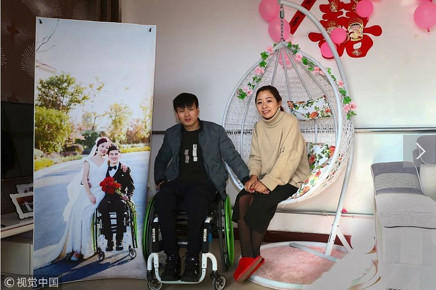Mr Hao Panpan tied the knot with Ms Fu Chengjun in his hometown in Hebei without informing her family.