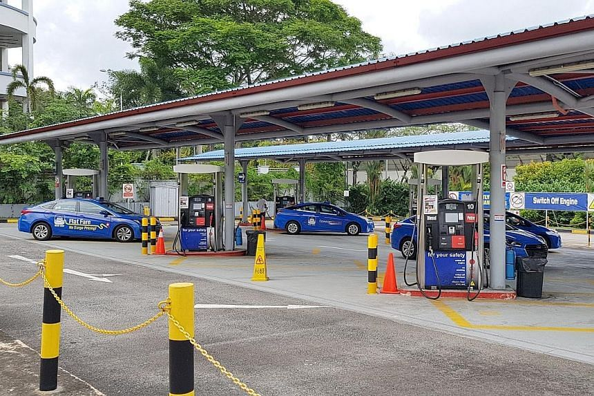 Petrol pumps at ComfortDelGro's Sin Ming Drive premises are understood to have been operating for close to a year. Petrol retail in Bukit Batok started towards the end of last year, and two other company-owned locations are set to offer the fuel late