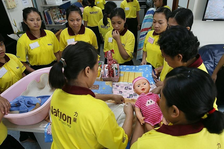 There are an estimated 120,000 Indonesian maids in Singapore. An Indonesian Embassy spokesman said the new bond is meant to better protect Indonesian migrant workers here by ensuring employers abide by the terms of the contracts.