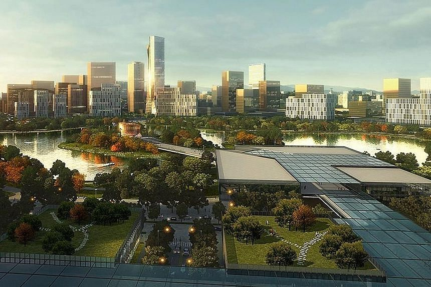 An artist's impression of the National Government Administrative Centre, being built 104km north of Manila. It will serve as a back-up city to ensure continuous government operations in the event of a natural disaster or a national calamity.