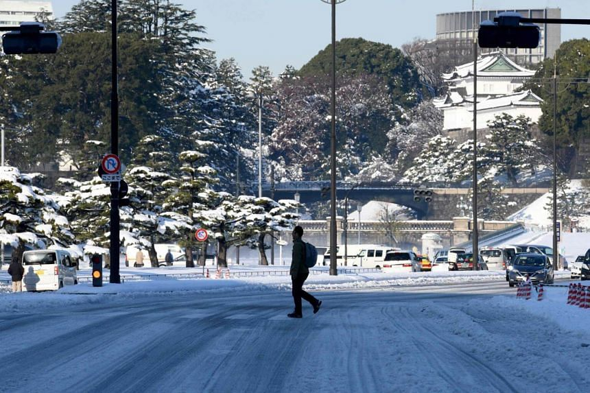 A rare heavy blanket of snow in Tokyo on Jan 23 left thousands of travellers stranded and scores injured.