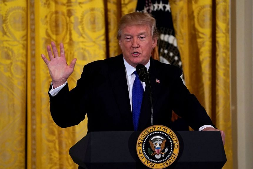 US President Donald Trump told reporters at the White House an immigration bill must also include measures to curb both family sponsorship of immigrants and the diversity visa lottery program.