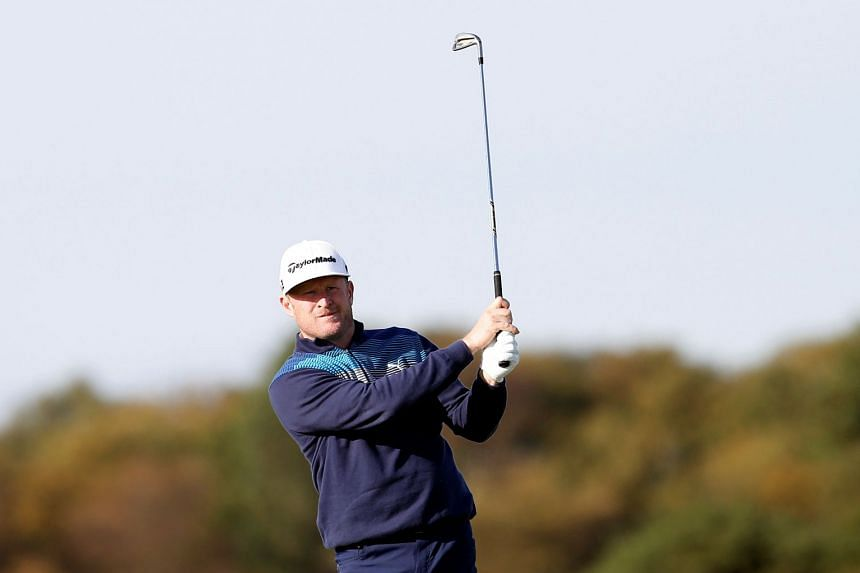 Donaldson (above, in a file photo) has a one-shot lead over English duo David Horsey and Anthony Wall.