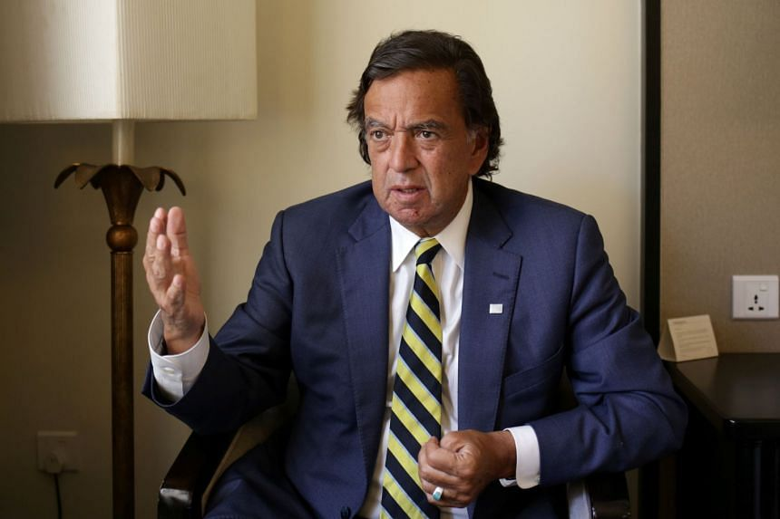 Bill Richardson speaks during an interview with Reuters in Yangon, Jan 24, 2018.