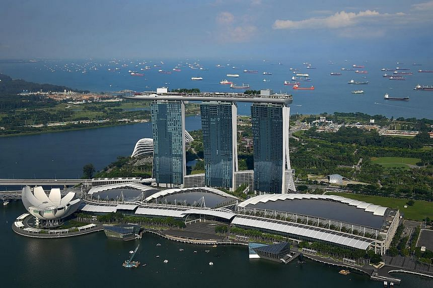 """Marina Bay Sands' fourth-quarter showing, with Ebitda up 25 per cent a year ago, was deemed """"pretty extraordinary"""" by parent company Las Vegas Sands' top executives."""