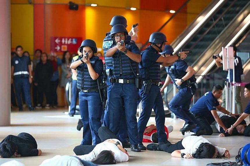 An hour-long simulated terror attack took place at KidZania Singapore, as part of this year's Exercise Heartbeat, on Jan 26, 2018.