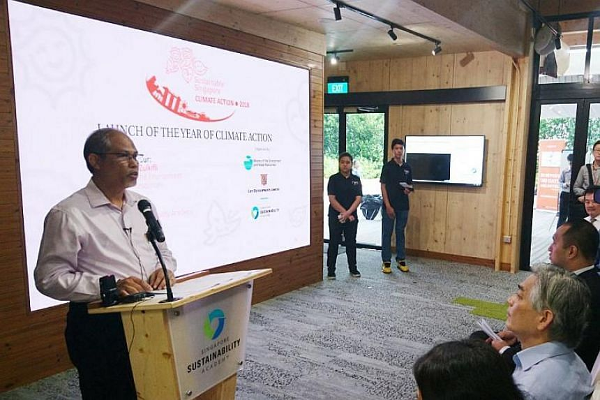 Environment and Water Resources Minister Masagos Zulkifli launched Singapore's Year of Climate Action - a year-long national initiative aimed at raising awareness on climate change - at City Square Mall on Jan 26, 2018.