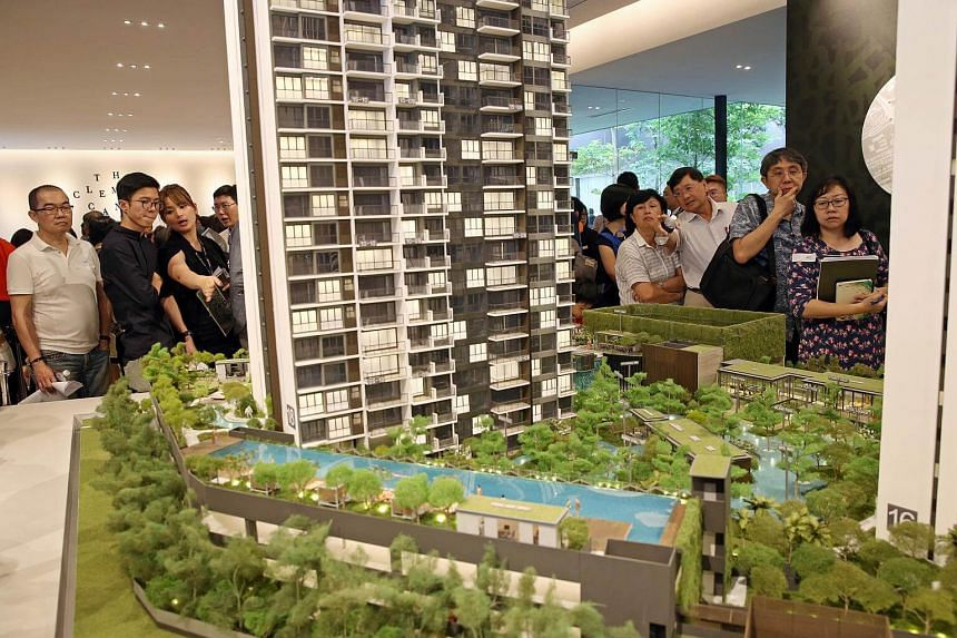 Potential buyers at the launch of The Clement Canopy on Feb 25, 2017.