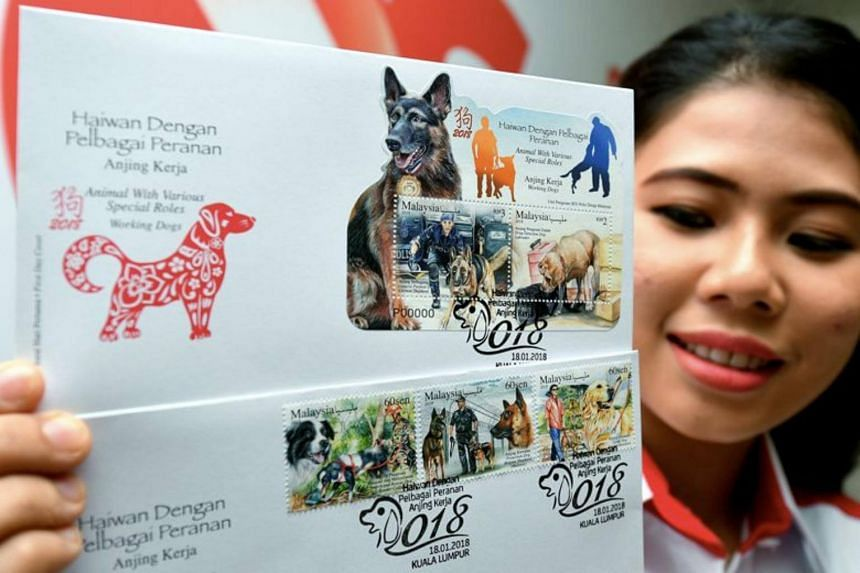 Pos Malaysia has recently launched a series of commemorative stamps and first day covers on working dogs in conjunction with the Year of Dog.
