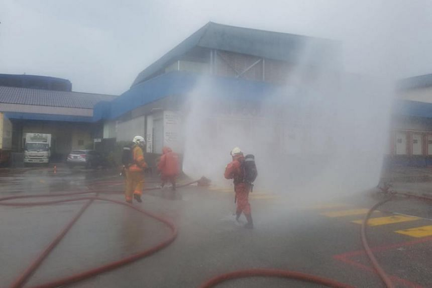 The Singapore Civil Defence Force was alerted to an incident of an ammonia leak at 1, Fishery Port Road, at about 11.40am.