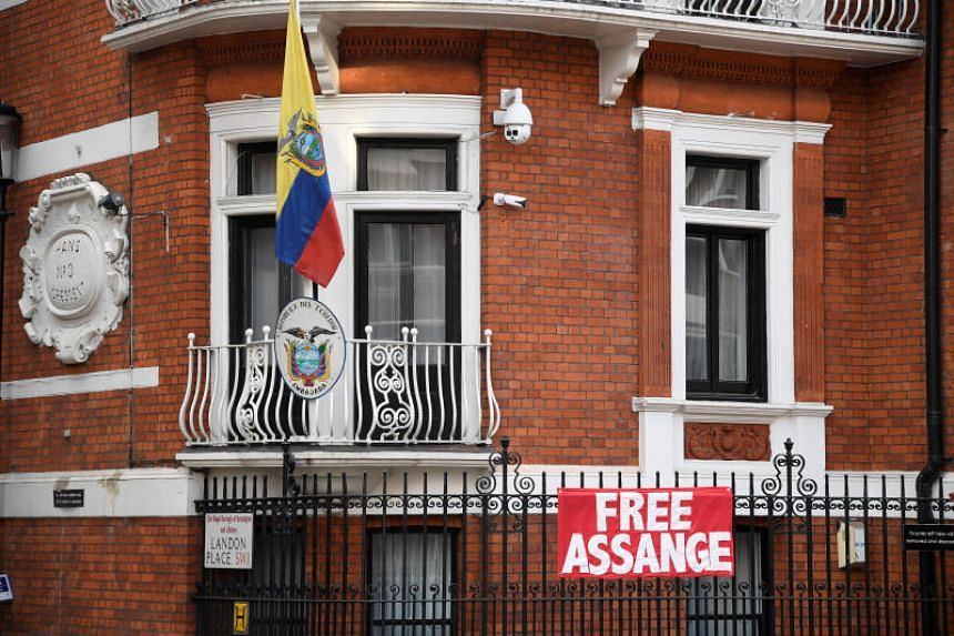 WikiLeaks founder Julian Assange has been living in Ecuador's embassy in London (above) for five years.