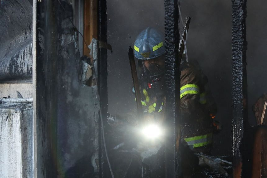 The blaze is suspected to have started in a first floor emergency room at Sejong Hospital in Miryang, South Korea.