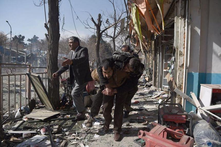 An ambulance packed with explosives blew up in a crowded area of Kabul on Jan 27, 2018, killing at least 17 people and wounding 110 others, officials said.