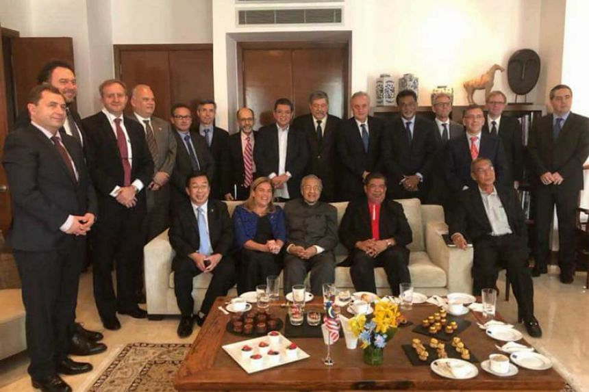 The two-hour meeting was held at the residence of the head of delegation of the European Union to Malaysia Maria Castillo Fernandez.