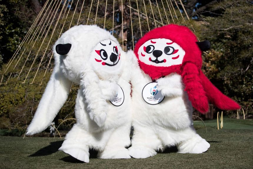 "With luxurious manes, short horns and faces that appear to be shaped like rugby balls, mascots ""Ren"" and ""G"" are inspired by ""shishi"", the mythical lion-like figure that features in Japan's new year celebrations and kabuki theatre."