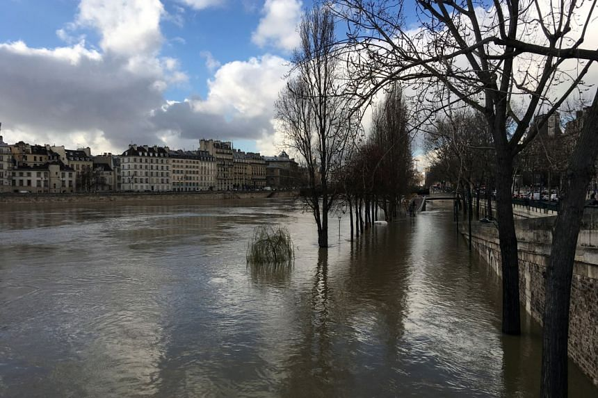All boat traffic on the Seine in Paris and upstream has been stopped, keeping tourists off the capital's famed sightseeing boats.