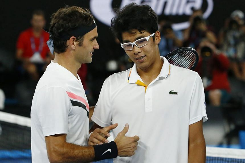 Roger Federer was leading 6-1, 5-2 when Chung Hyeon called it quits with foot blisters in their Australian Open semi-final on Jan 26.